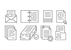 Freie Linear Office-Dokumente und Papiere vektor