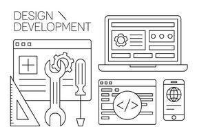 Free Design und Entwicklung Vector Element