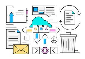 Free Cloud Computing Icons vektor