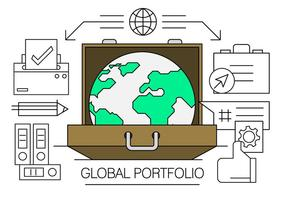 Linjära globala affärselement vektor