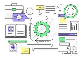 Gratis Linear Business och Workflow Elements vektor