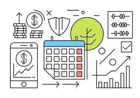 Free Business och finans vektorelement vektor