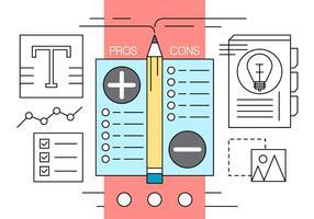Kostenlose Vor-und Nachteile Vector Illustration