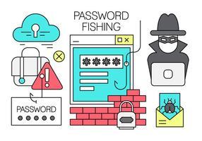 Freies Linear Passwort Hacking Vector Element