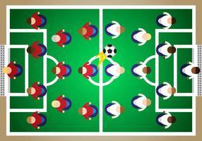 Subbuteo Fußball Illustration Vektor
