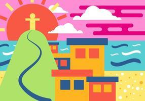 Copacabana Wohnung Illustration Vektor