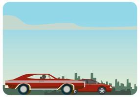 Dodge Charger 1970 VS Dodge Ladegerät SRT8 Vektor