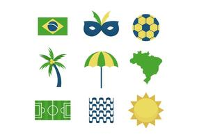 Gratis Brasilien Vector ikoner