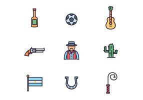 Argentinischer Gaucho Icons