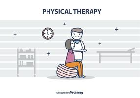 Kostenlose Physiotherapeut Vektor-Illustration