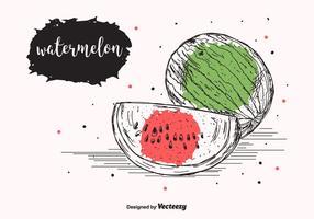 Vattenmelon Vector Bakgrund