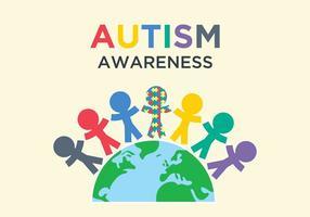 Autism medvetenhetsillustration