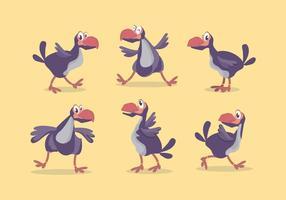 Dodo Vogel Vektor Set