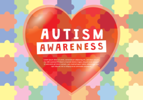 Autismus-Bewusstseins-Liebe-Plakat vektor