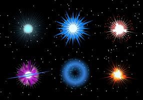 Supernovaexplosionsvektor vektor