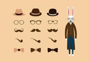 Hipster påsk Gratis Vector