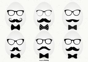 Hipster Style-Osterei-Sammlung vektor