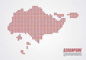 Singapur 3D-punktierte Karte