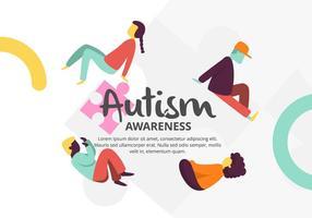 Autismus-Hintergrund