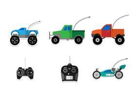 Flache RC Car Vektoren