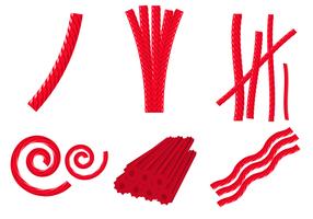 Red Licorice Süßigkeiten Vektor