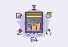 Moving Service Illustration vektor