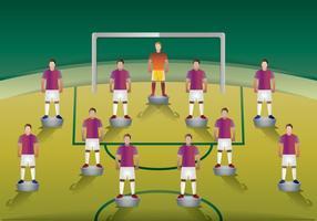 Tabelle Fußballspieler vektor