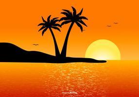 Vacker tropisk landskap scen vektor