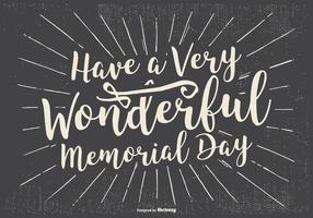 Typografische Glücklich Memorial Day Illustration