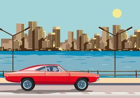 Red Dodge Charger 1970