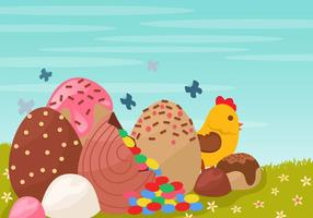 Dekoration der Schokolade Osterei