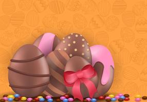 Dekoration av Choklad påskägg vektor