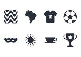 Brasilien ikonuppsättning vektor