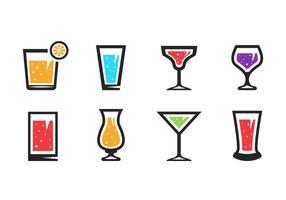 Gratis Alkoholist drinkar Ikoner Vector