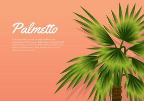 Palmetto-Pfirsich-Hintergrund Free Vector
