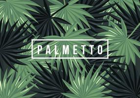 Palmetto bakgrund vektor