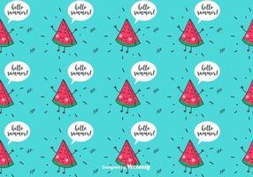 Funny Vattenmelon Pattern vektor