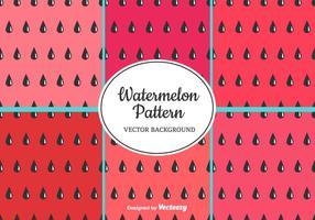 Watermelon Pattern Set vektor