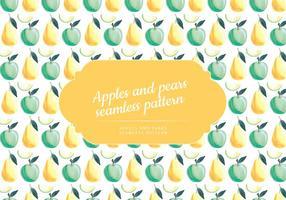 Vector Hand Drawn äpplen och päron Mönster