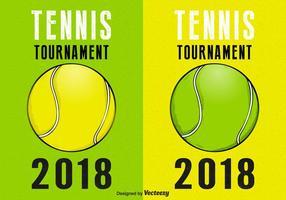 Tennis Tournament Retro Vector Affischer