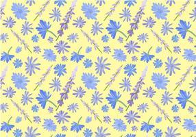 Freie Wildblumen-Muster-Vektoren vektor