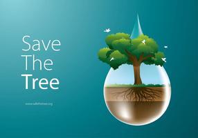 Spara träd Gratis Vector