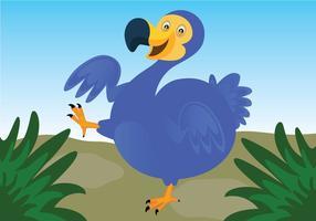 Dodo-Vogel-Vektor Hintergrund vektor
