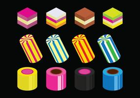 Helle Licorice Icons Set vektor