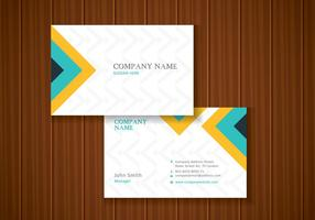 Freies buntes stilvolle Visitenkarte Template Design vektor