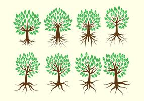 Freier Baum mit Wurzeln Vektor-Sammlung vektor