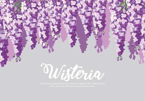 Wisteria Blumen Hintergrund Vektor