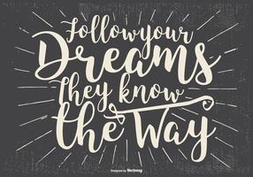 Inspirerande Typografisk Illustration