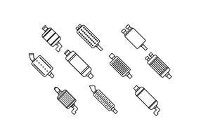 Freies Schalldämpfer Linie Icon Vektor