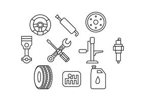 Gratis Automotive Linje Ikon Vector